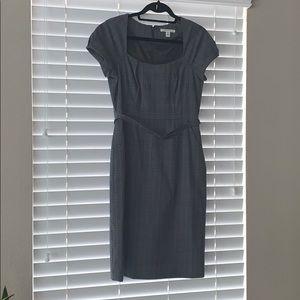 Gray/Black/Navy Plaid Banana Republic Dress